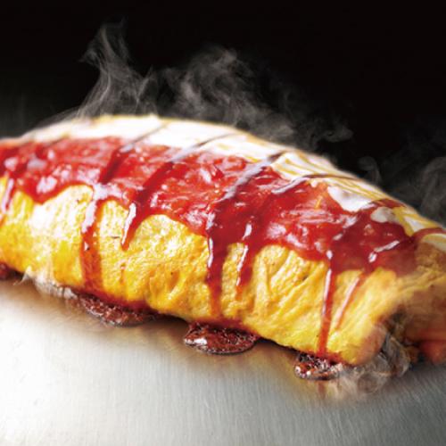 【大阪伝統オムそば】豚入りオムそば