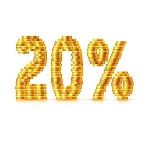 20%分還元